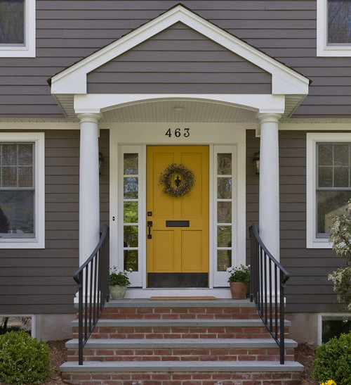 color bold door - Front Door Design Ideas